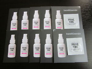 Lot of 10 bare Minerals PRIME TIME Foundation Primer Sample Packets Travel NEW