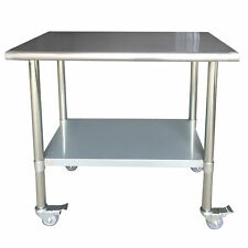 Sportsman Series Stainless Steel Work Table with Casters 24 x 36 Inches