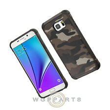 Samsung Galaxy Note 5 Advanced Armor Case Camo - Brown/Black Cover Shell Protect