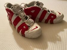 Nike Air More Uptempo red white basketball sneakers Pippens 414962-100 size 12