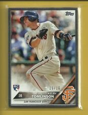 Kelby Tomlinson RC 2016 Topps FRAMED Rookie Card # 322 serial #'d / 16 Giants