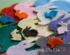 Felt Bunny Rabbits and Baby Bunnies (30) Die Cut Animal Craft Embellishments
