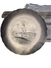 "Wabush Mines Labrador 1965 ""stainless steel� commemorative plate"