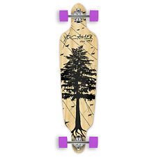 Yocaher Drop Through Longboard Complete - In the Pines : Natural