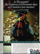 Publicité advertising 1986 La Cuisinière Bois Charbon Deville