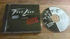 CD POP Five Live-a cappella Live CAFE nel libro (13) song voice POP REGY Clasen