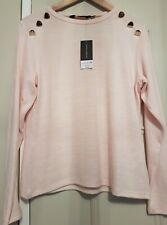 Super Soft Knitted Jersey Top. Blush Pink. Size 14. New With Tag.