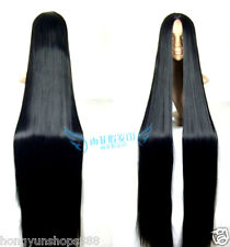 Cosplay Wig 150cm long Straight Hair wig Black wig Costume Stage Television