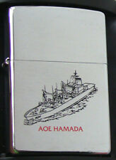 JDS Hamada AOE Oiler Zippo MIB Japan JMSDF Brushed Chrome 2000