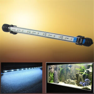 Fish Tank White Overhead Lamp Aquarium Aqua LED Light Hood Decor