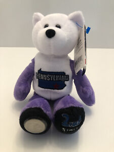 """PENNSYLVANIA State Quarter Coin Bear - 2nd State. Plush 8"""" Limited Treasures"""