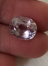 VTG Natural Pink KUNZITE 4.50 carats 11 x 9mm Oval Cut Faceted Loose Gemstone