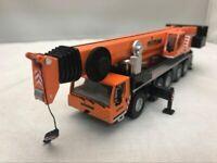 1:87 Scale Liebherr Ltm 1250-5.1 Crane Vehicle Orange + Black Colour Metal Model