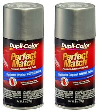 2 Pack Perfect Match Automotive Paint Toyota Phantom Grey Pearl 8 oz Aerosol Can