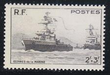 France 1946 MNH Mi 740 Sc B204 French warships ** Marines.Ship.
