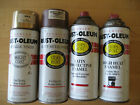 4 Vintage Rustoleum Spray Paint cans Teal, BBQ Black, Gold, Rusty metal 1991, 93