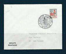 FRd enveloppe Fleurs  exposition philatélique 89 Avallon  1967