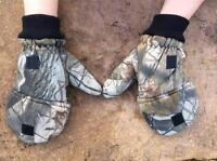 Real Tree Convertible Mittens Hunting Gloves One Size