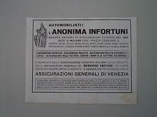 advertising Pubblicità 1941 ANONIMA INFORTUNI - ASSICURAZIONI GENERALI VENEZIA