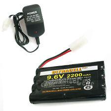 1 x 9.6V 2x4 8AA 2200mAh NI-MH Rechargeable Battery Pack Tamiya RC + Charger US
