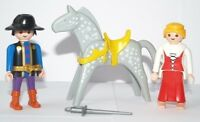 Playmobil 1993 Western Castle Princess Cowboy Figures Hat Horse Saddle Bundle