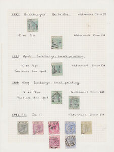 Cyprus. 1882-94. Good/fine used selection hinged on page.