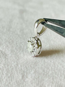 0,56 ct Diamanten Anhänger - 14 K Gold - NEU