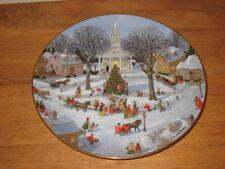 "Danbury Mint 8� Plate ""Christmas Tree Lighting� By Charlotte Sternberg"