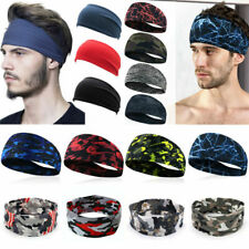 Mens Sports Yoga Headband Sweatband Stretch Outdoor Fitness Gym Elastic Hairband