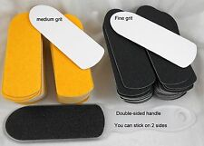 100 x Foot File Pedicure Kit  Replacement Pads  and Double Sided Handle
