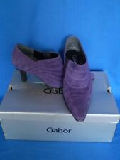 Gabor Athens Purple Suede Leather Shoes Size 3.5 in Box