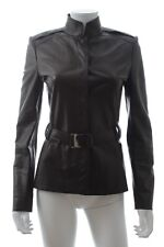 Gucci Leather Belted Jacket / Black