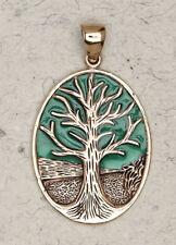 Tree of Life-Bronze/Judaic/Gold/Religion/Enameled/Pendant/Jewelry