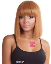 BS133 - Mane Concept ISIS Brown Sugar Full wig Human Hair StyleMix Blunt Cut