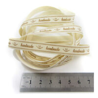 2 METRES 'HANDMADE' 10mm POLYESTER RIBBON / TAGS CARDMAKING CRAFTING H4420