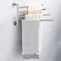 304Edelstahl Handtuchhalter Wand Handtuchstange Handtuch mit 4 Stange Bad Halter