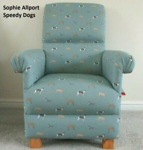 Sophie Allport Speedy Dogs Fabric Children's Chair Kids Armchair Whippets Childs