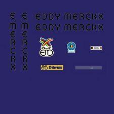 Eddy Merckx Criterium Bicycle Decals, Transfers, Stickers - Black n.250