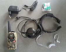 1 TALKIE WALKIE INTEK MT3030M CAMO + CHARGEUR+ LARYNGOPHONE AVEC PTT GROSSE