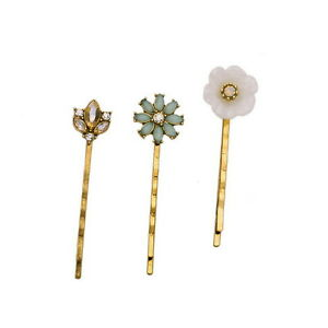 Champagne Serenity Crystal Bead Flower White Opal Crystal Hair Pin Jewelry Set