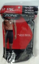 Mens 2 Pack Zone Pro  Boxer Brief Cotton S28-30  New