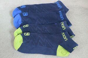 2 pairs Salomon Elevate Trail Running Socks 6-9 navy
