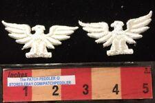 WHITE Eagle Patch Lot Of 2 ~ American Bald Eagle, Bird Emblem Of USA 2 1/2