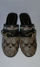 Coach Signature Style Sutton Clogs Women Shoes Size 7 Medium