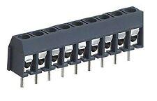 2 * 9 forma terminal de tornillo PCB Conector 9 Pines Apilable