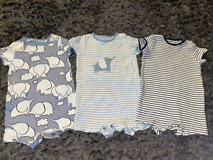 Next Blue Elephant Rompers 9-12 Months