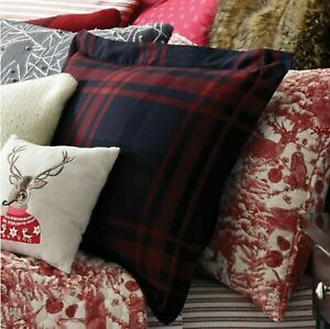 Cozy Shop Merry Plaid Standard Pillow Sham in Red/Black