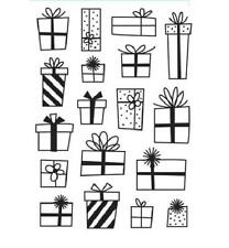 4.25 x 5.75 Darice Embossing Folder PRESENTS Gifts 30032594 Sizzix Cuttlebug