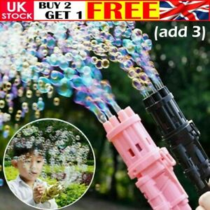 Kids Automatic Gatling Bubble Gun Toys Summer Electric Bubble Machine For Gift L