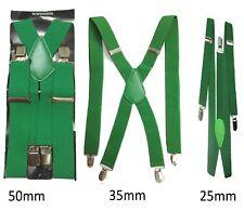 Verde Hombre Mujer Tirantes Elástico Ancho Resistente Pantalones 25mm 35mm 50mm